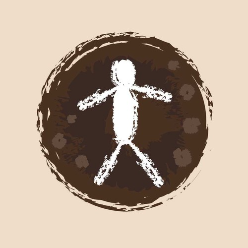 Human figure logo with the title 'Back to Human Logo'
