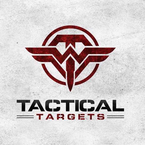 Military logo with the title 'Logo design for Tactical Targets'