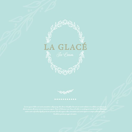Branch design with the title 'LA GLACE'