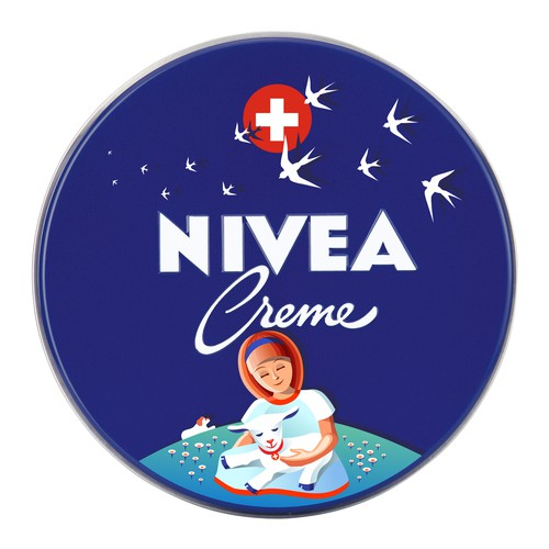 Packaging artwork with the title 'Nivea Creme Limited edition'