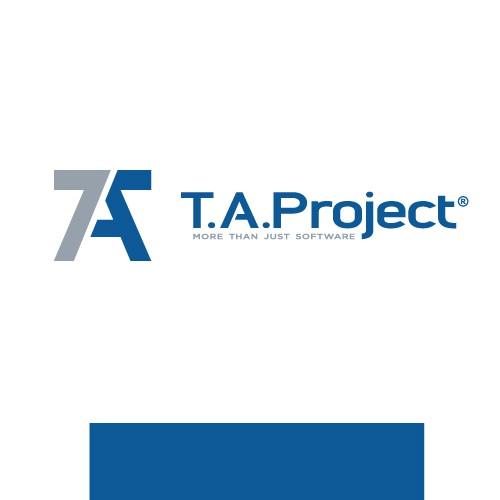 Number 7 logo with the title 'Erstellt ein Logo nebst Zeichen für T.A.Project - ERP-Lösungen im Metall-, Fassaden- und Stahlbau'