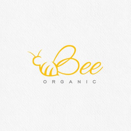 Beekeeping logo with the title 'Bee organic'