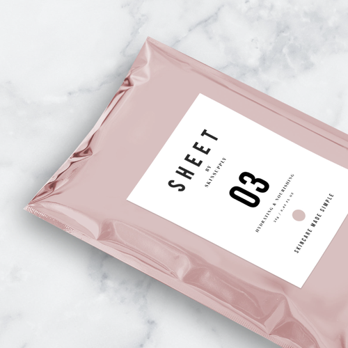 Packet design with the title 'SKIN CARE POUCH PACKAGING '
