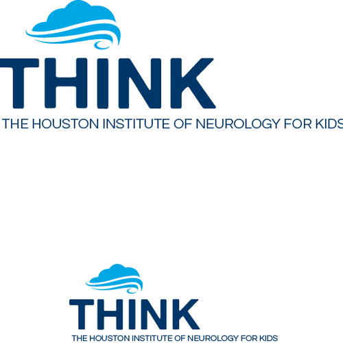 Neurologist logo with the title 'THINK - The Houston Institute of Neurology for Kids'