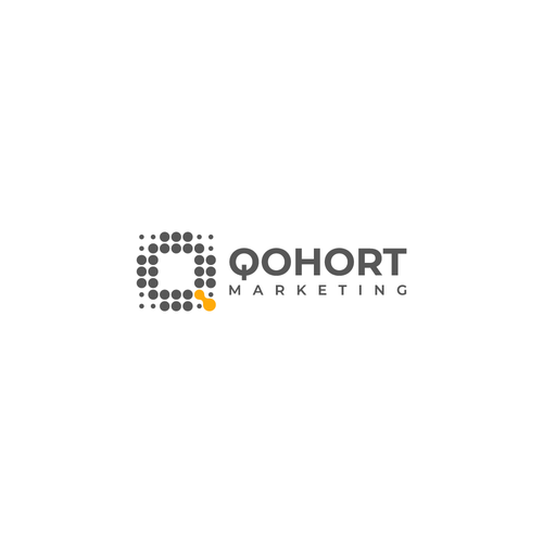 Q logo with the title 'Logo design for Qohort – a new, modern, and analytical marketing agency'