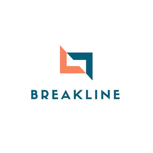 Break design with the title 'breakline logo'