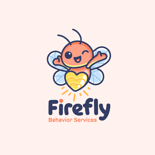 Logo with the title 'Mascot Logo for Firefly Behavior Services'