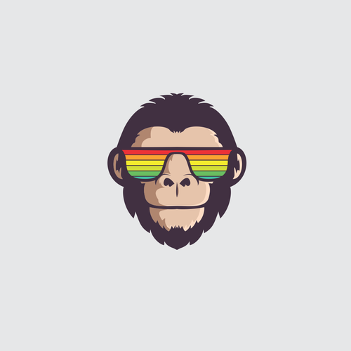 Chimp design with the title 'monkey logo contest'