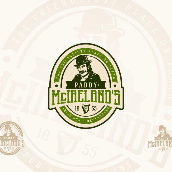 Irish logo with the title 'Paddy McIrelands'