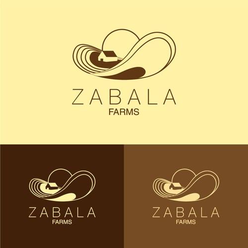 Sombrero logo with the title 'Isotipo para Zabala Farms'