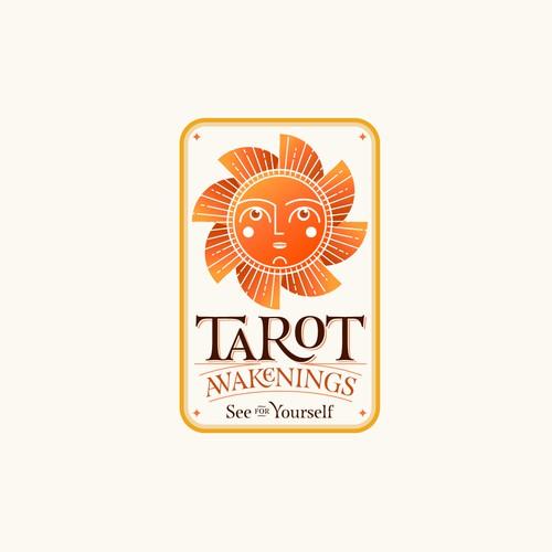Religious brand with the title 'TAROT AWAKENINGS'
