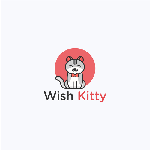 Modern logo with the title 'Wish Kitty'