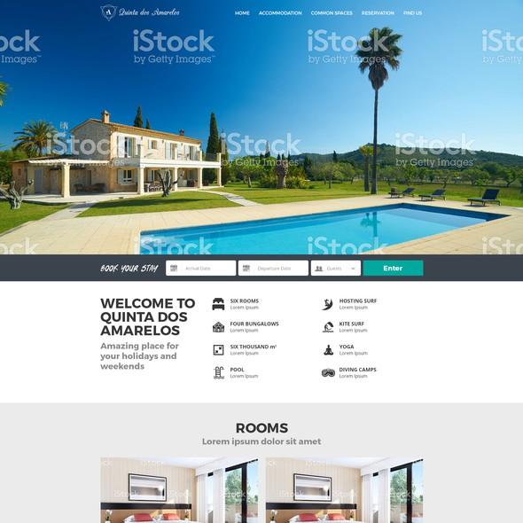 Destination design with the title 'Quinta Dos Amarelos'
