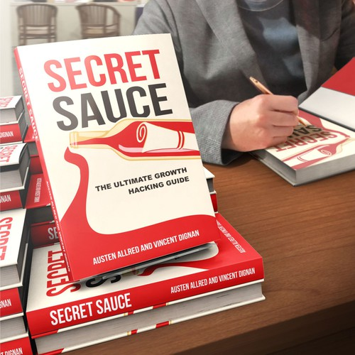 Recipe book cover with the title 'secret sauce'