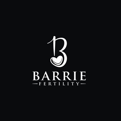 Lavender logo with the title ' comforting logo for Barrie Fertility'