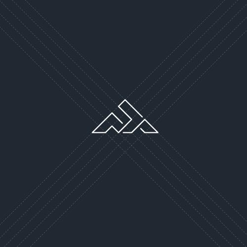 Simple logo with the title 'Geometric monogram logo'
