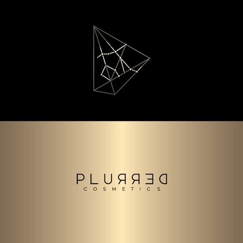 Zodiac logo with the title 'Plurred cosmetics'