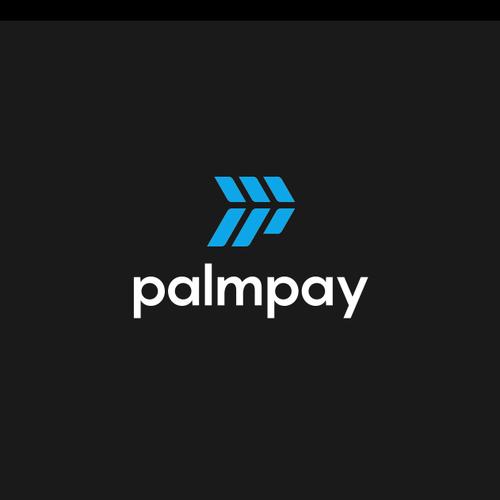 P logo with the title 'PALM LEAF + LETTER P LOGO CONCEPT'