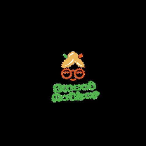 Supermarket design with the title 'Logo food line'