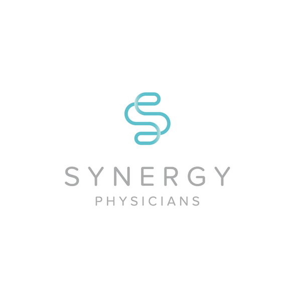 Synergy logo with the title 'Simple and clean synergy logo.'