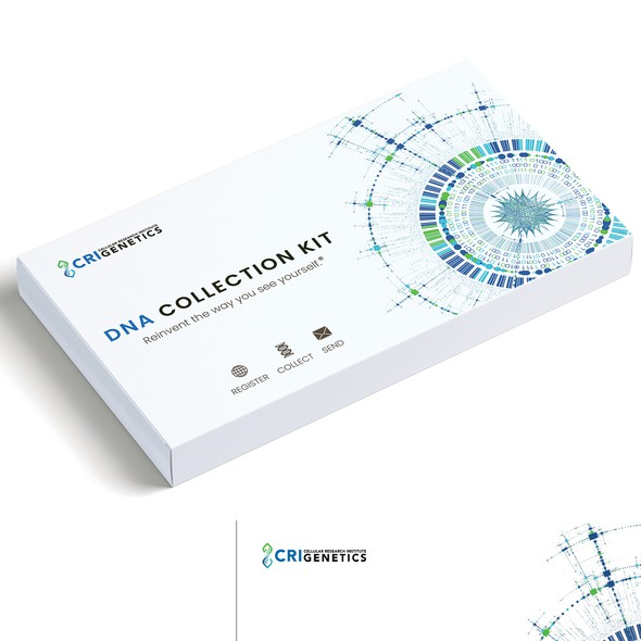 Pharmaceutical design with the title 'DNA Testing Kit- Box Redesign for Genetics Company'