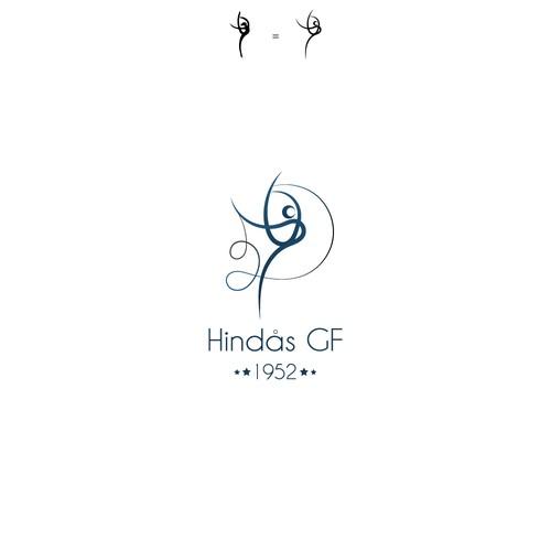 Gymnastics logo with the title 'Logo for Hindas'