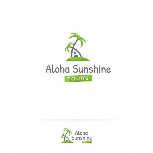 Maui logo with the title 'Fun and inviting logo for a Tourist Agency'