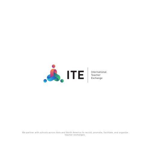 International logo with the title 'ITE (International Teacher Exchange) logo'