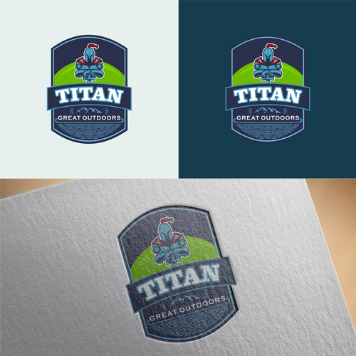Titan design with the title 'titan great outdoors'