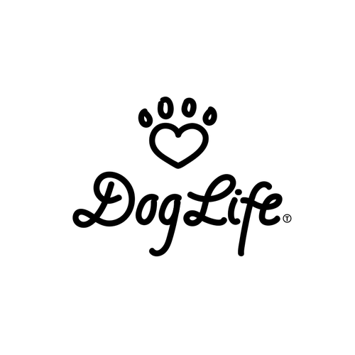 Freehand logo with the title 'Logo concept for Dog Life'