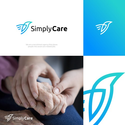 Recruitment logo with the title 'SIMPLY CARE'