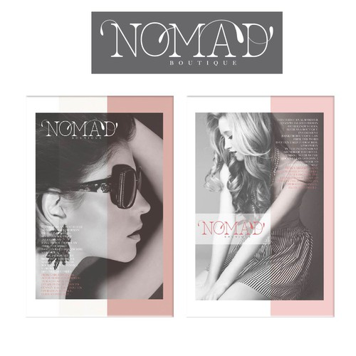 Accessories brand with the title 'Create a capturing brand identity for Nomad Boutique '