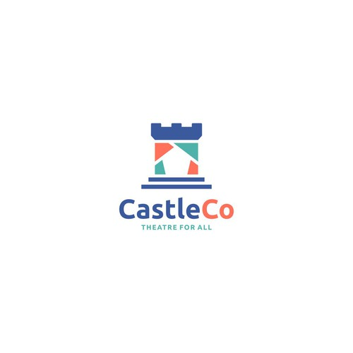 Opera logo with the title 'castle co theatre'