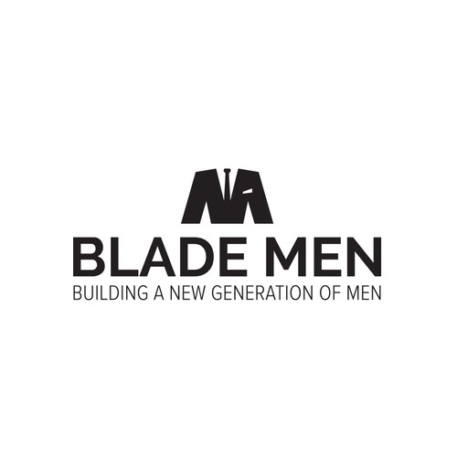 Suit logo with the title 'Logo for male training program'