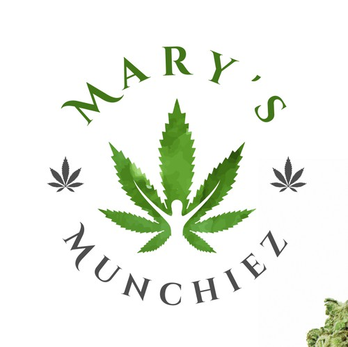 Leaf logo with the title 'Medical marijuana bakeshop'