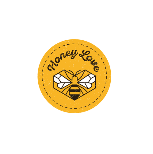 Honey logo with the title 'Emblem logo for sale'