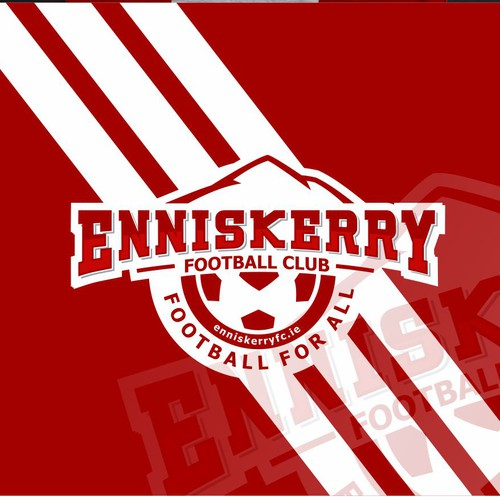 Soccer logo with the title 'Enniskerry Football Club logo'