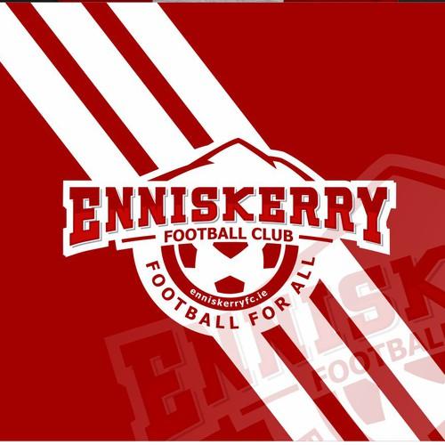 Football logo with the title 'Enniskerry Football Club logo'