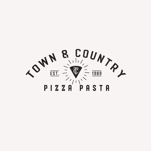 Outlet design with the title 'Logo Conept for Town and Country'