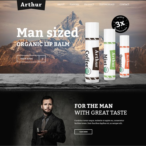 Beauty design with the title 'Landing page design'