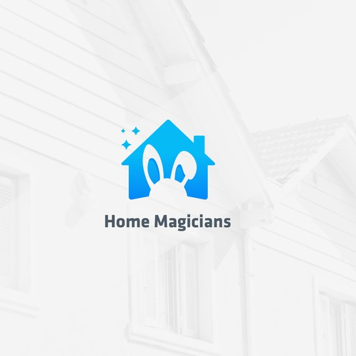 Magic wand logo with the title 'Home Magicians'