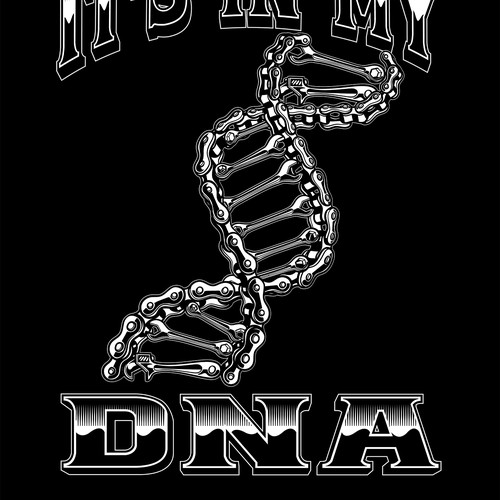 Chain design with the title 'Bikers DNA'