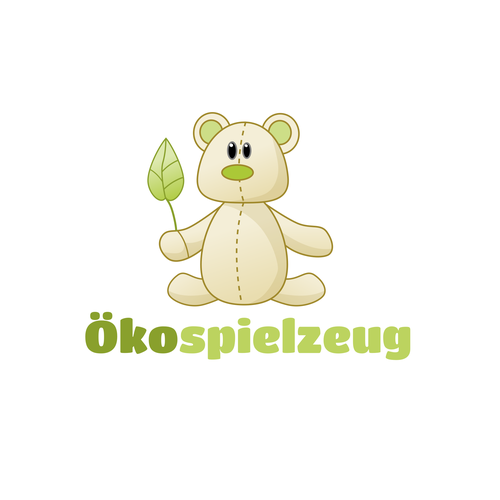 Teddy logo with the title 'Logo for a toy company'