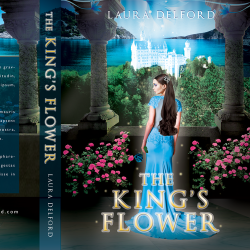 Princess design with the title 'THE KING`S FLOWER'