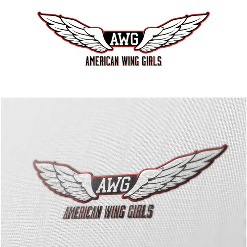 Girl design with the title 'Need a Sexy Logo created for our Fitness Models (American Wing Girls)'