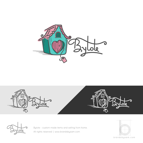Homemade design with the title 'Logo Design for Home/Custom Made Products Store'