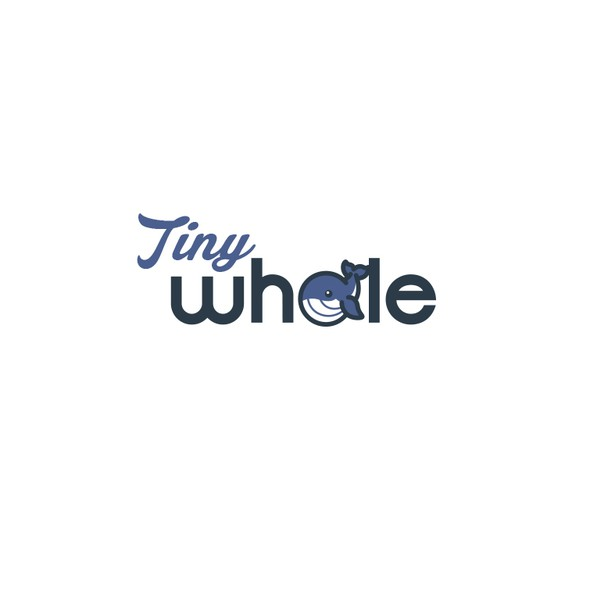 Small design with the title 'Tiny whale'