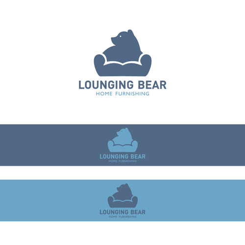 Sofa logo with the title 'Lounging Bear'