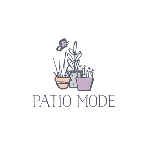 Ornamental logo with the title 'Handdrawn logo for a gardening store'