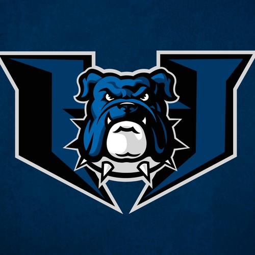 Bulldog design with the title 'Bulldog sports logo'